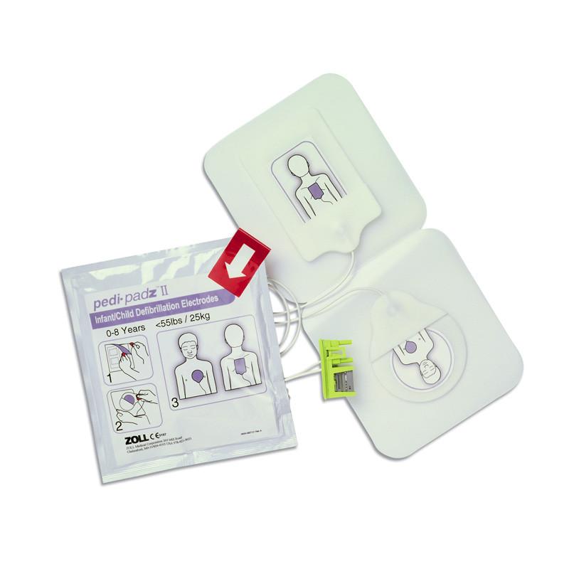 Electrodes PEDI-PADZ II pédiatriques pour défibrillateur ZOLL AED PLUS + kit de secours