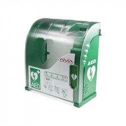 Boîtier mural extérieur AIVIA 200 avec alarme et chauffage pour défibrillateur