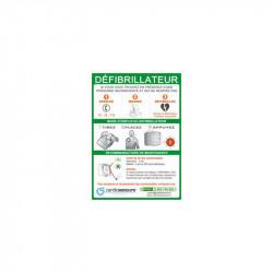 Panneau mural signalétique intérieur en PVC pour défibrillateur