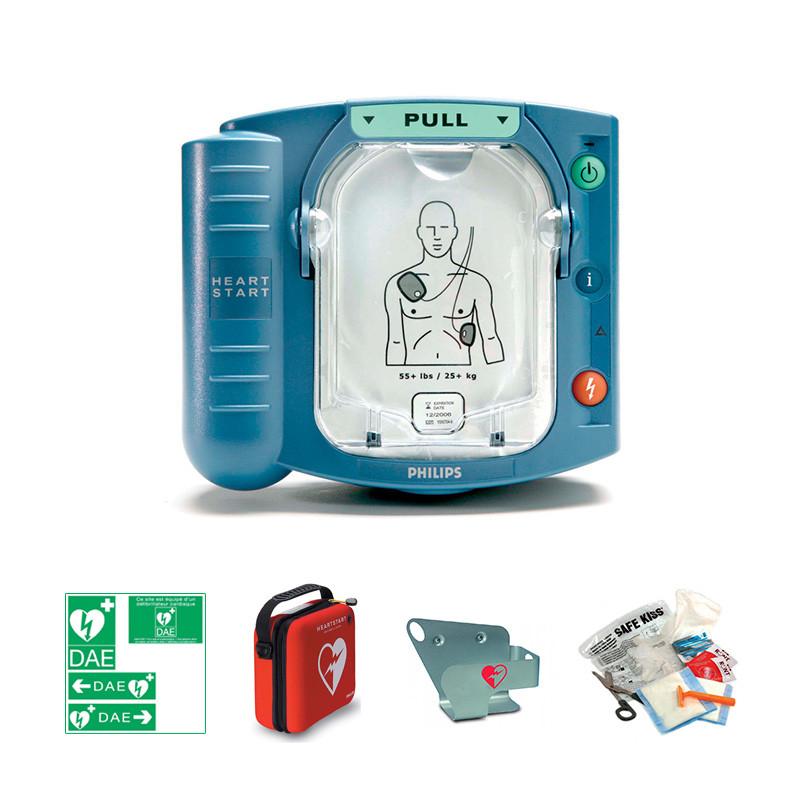 Pack intérieur : défibrillateur Philips HS1 + support mural