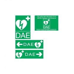 Kit signalétique autocollants pour défibrillateur