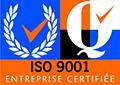 ISO 9001 - Entreprise certifiée